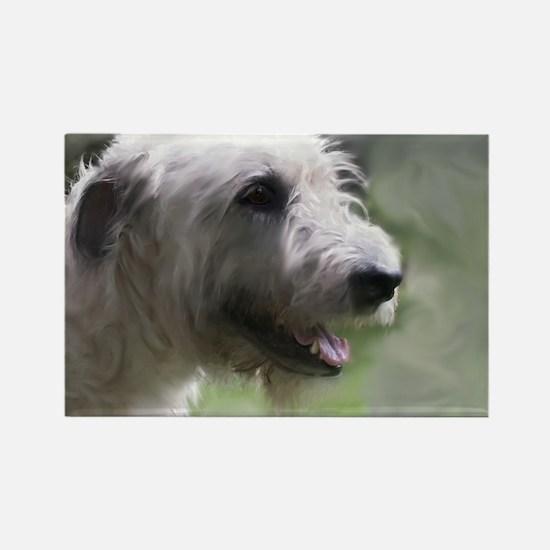 Content Irish Wolfhound Rectangle Magnet