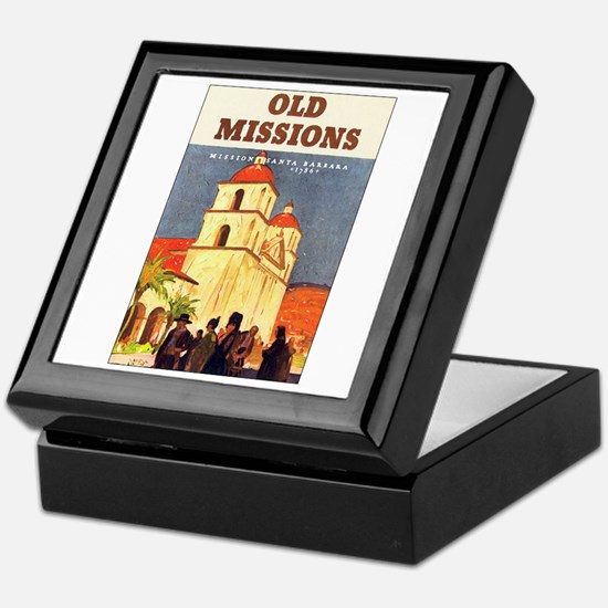 Mission Santa Barbara Keepsake Box