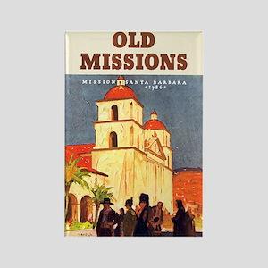 Mission Santa Barbara Rectangle Magnet