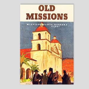 Mission Santa Barbara Postcards (Package of 8)