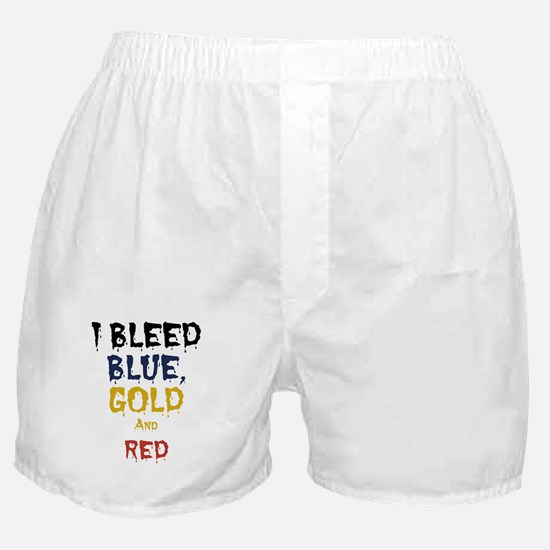 I Bleed Blue, Red, & Gold Boxer Shorts