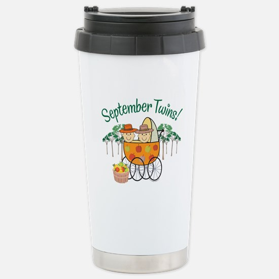 SEPTEMBER TWINS! Stainless Steel Travel Mug