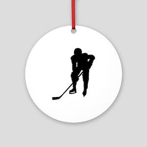Hockey Player Keepsake (Round)