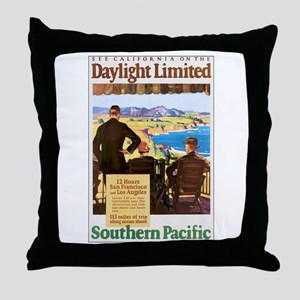 Southern Pacific CA Throw Pillow