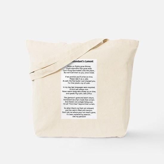 Flight Attendant's Lament Tote Bag