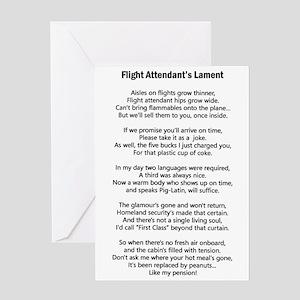 Flight attendant greeting cards cafepress flight attendants lament greeting card m4hsunfo