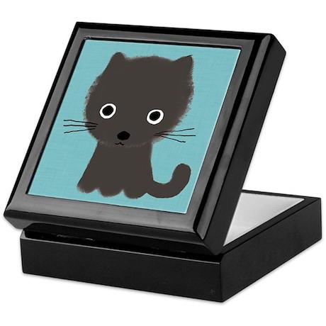 Grey Kitty Keepsake Box