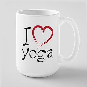 i love yoga Large Mug