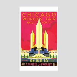 Chicago World's Fair 1933 Rectangle Sticker