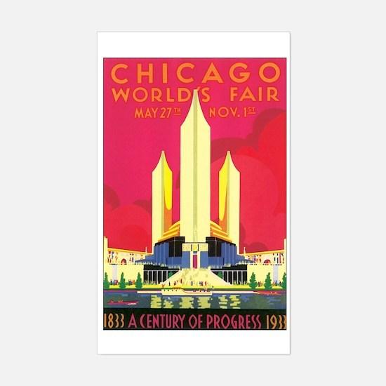 Chicago World's Fair 1933 Rectangle Decal