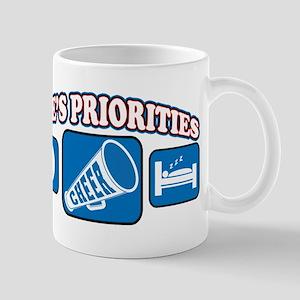 Life's Priorities Cheerleadin Mug