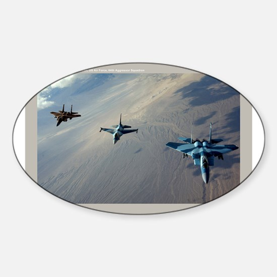 Aggressors Oval Decal