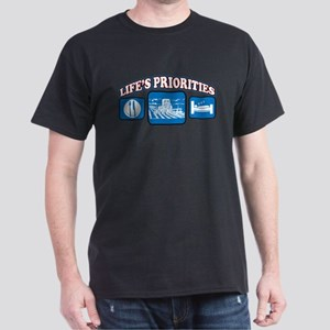 Life's Priorities Farming Dark T-Shirt