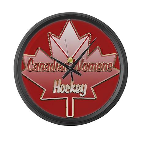 Canadian Womens hockey Large Wall Clock