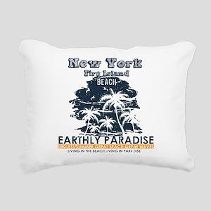 New York - Fire Island Rectangular Canvas Pillow