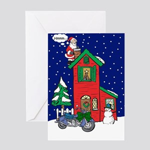 A Motorcycle For Christmas Greeting Card