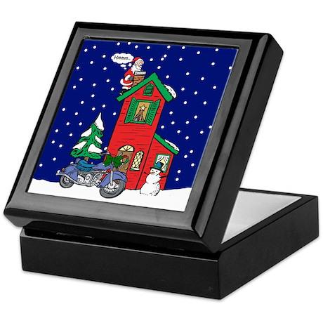 A Motorcycle For Christmas Keepsake Box