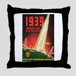 San Francisco World's Fair Throw Pillow
