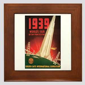 San Francisco World's Fair Framed Tile