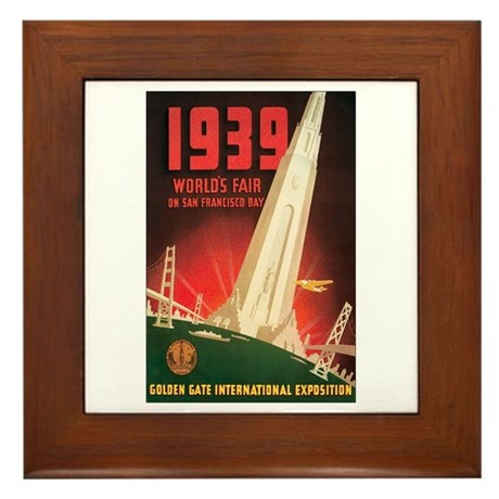San Francisco World's Fair Framed Tile