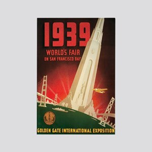 San Francisco World's Fair Rectangle Magnet