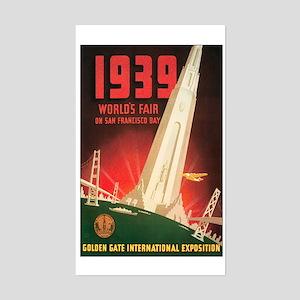 San Francisco World's Fair Rectangle Sticker