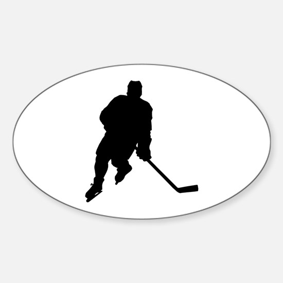 Hockey Player Oval Decal