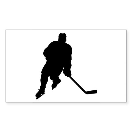 Hockey Player Rectangle Sticker