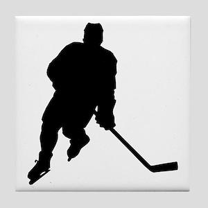 Hockey Player Tile Coaster