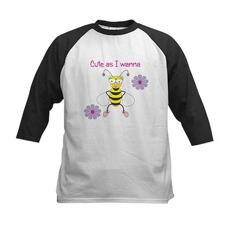 Bee Cute Kids Baseball Jersey