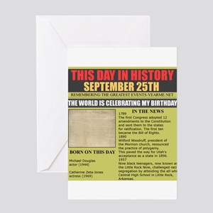 september 25th-birthday Greeting Card