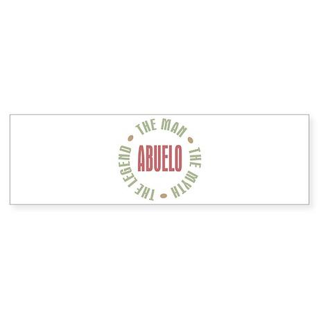 Abuelo Man Myth Legend Bumper Sticker (10 pk)