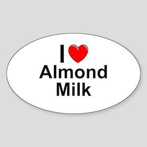 Almond Milk Sticker (Oval)