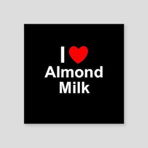 "Almond Milk Square Sticker 3"" x 3"""