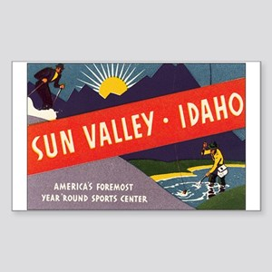 Sun Valley Idaho Rectangle Sticker