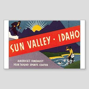 Sun Valley Idaho Rectangle Sticker