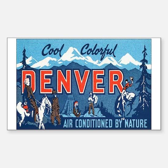 Denver Colorado Rectangle Decal