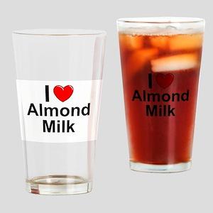 Almond Milk Drinking Glass