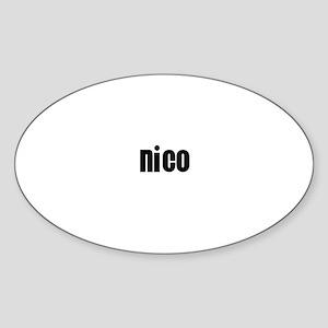 Nico Oval Sticker