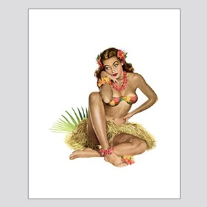 Tropical Girl Small Poster