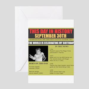 september 30th-birthday Greeting Card