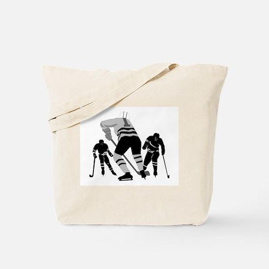 Hockey Players Tote Bag