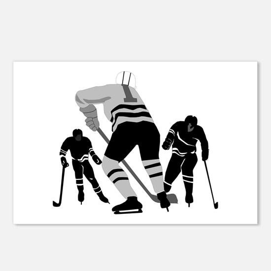 Hockey Players Postcards (Package of 8)