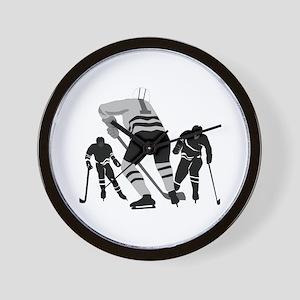 Hockey Players Wall Clock