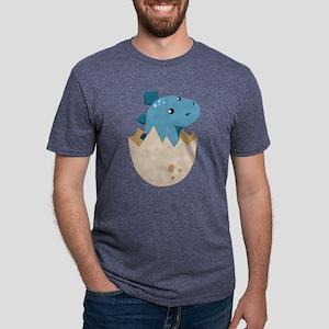 Baby Stegoceras Dinosaur Mens Tri-blend T-Shirt