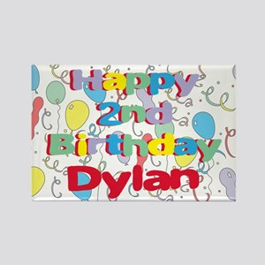 Dylan's 2nd Birthday Rectangle Magnet