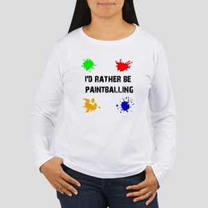 Rather Be Paintballing (Women's Long Sleeve Tee)
