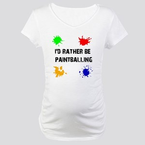 Rather Be Paintballing (Maternity T-Shirt)