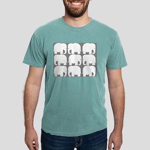 White Elephants Silhouette Mens Comfort Colors® Sh
