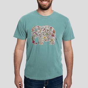 Floral Elephant Silhouette Mens Comfort Colors® Sh